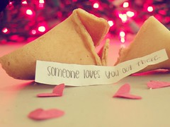 Somewhere, someone loves you. (cheska annelliese.) Tags: christmas hearts lights cookie you bokeh fortune someone loves somewhere