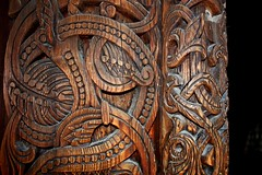 Carved Perfection (BangsUndeveloped) Tags: travel vacation holiday detail art church oslo norway museum architecture norge sightseeing tourist carve norwegian frogner carvings stave gol bygdy kirke stavkirke norskfolkemuseum bygdoy canonxsi