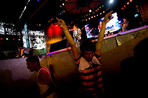 Concertgoers at a look thung concert, Bangkok