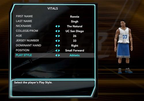 NBA 2K10 Vitals