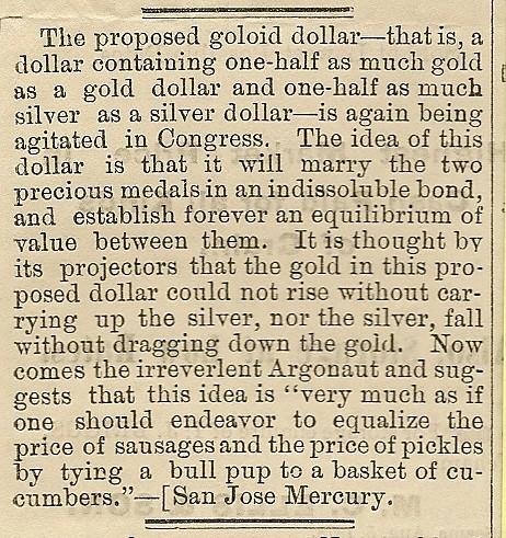 The Goloid Dollar
