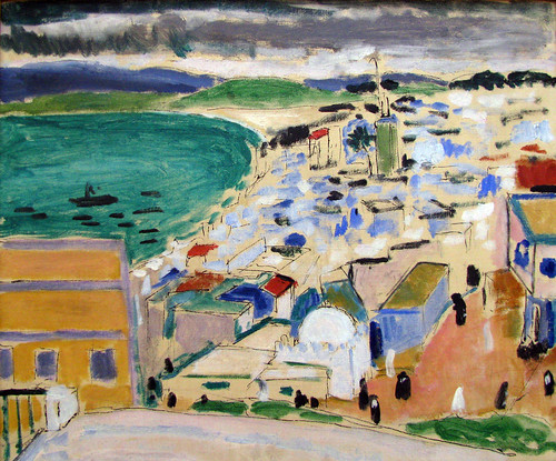 Vue Sur La Baie De Tangiers, 1912, by Henri Matisse oil with pen and ink