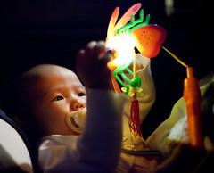 (GenkiGenki) Tags: light people baby night canon eos 50mm singapore andrea cab daughter lantern ef hold pacifier clarkequay ef50mmf14usm 5dmarkii 5d2 5dmark2