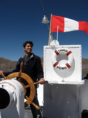 Yavari Captain (Canadian Veggie) Tags: me peru wheel ship captain puno gunboat yavari