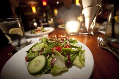 Side Salad with Toasted Pumpkin Seeds