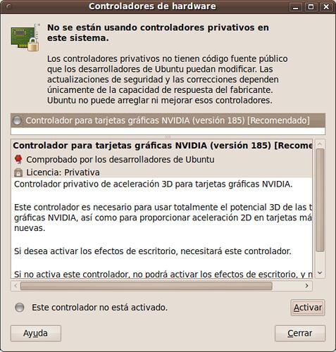 Ubuntu Controladores de Hardware