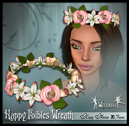 """Happy Foibles"" Hair Wreath (pink)"