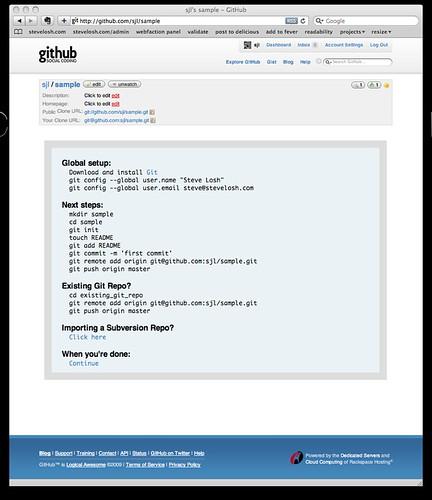 GitHub New Repo Sample