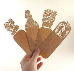 Etsy bookmarks (Elsita (Elsa Mora)) Tags: wood original cute art set illustration cutout book design reader cut lace decorative page laser bookmarks elsa bookmark mora elsita