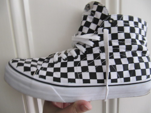 Vans deconstructed in checked cool