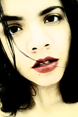 Let me die in your lips (Jack Venancio) Tags: red portrait selfportrait girl mouth autoretrato lips vermelha boca menina