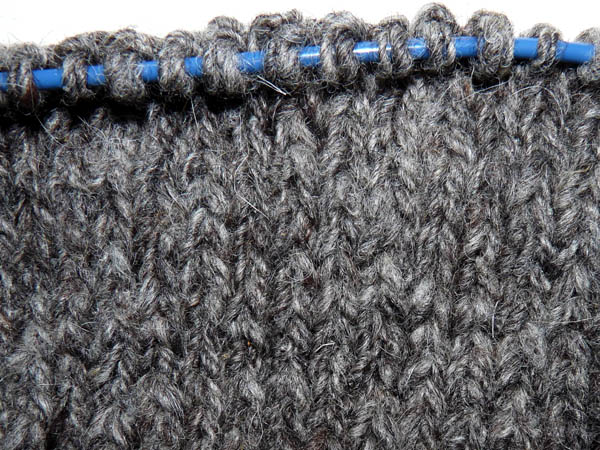 knit-up sample in stockinette stitch