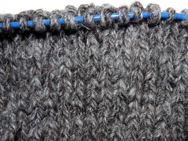 knit-up sample in stockinette stitch