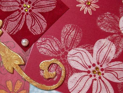handmade notecard detail