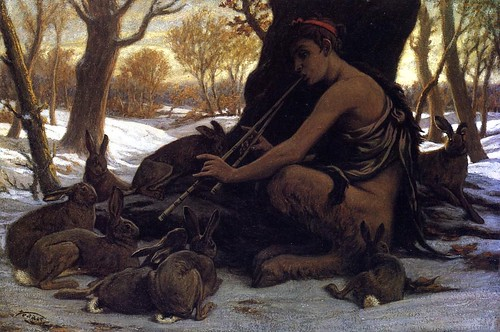 marsyas enchanting the hares..(detail)