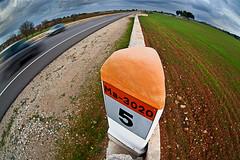Km 5 (Juan Antonio Cap) Tags: road highway carretera fisheye santamaria mallorca baleares kilometer kilometro ojodepez illesbalears zenitar16mmf28 ultraangular
