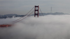 Fog from GGB to Sutro Tower (Pixel Boy128) Tags: ca usa fall cali fog canon eos december foggy goldengatebridge bayarea 2009 sutrotower ggb rollingin llens sfskyline canon5dmkii 5dmkii 12012009 canon1004004556lisusm