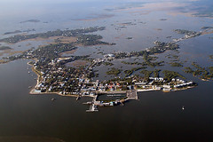 Aerial View of Cedar Key (MickiP65) Tags: travel trees vacation usa fish tree tourism gulfofmexico water forest town fishing december village gulf florida getaway aerialview aerial northamerica oysters fl crabs fla 2009 cedarkey forests levy fishingvillage crabbing sumner dockstreet gulfcoast vacationspots canoneos30d michellepearson naturecoast 120309 20091203 12032009 mickip65 promaster18200 img0030766 dec032009 filmck