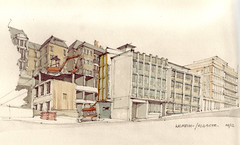 Wilhelm-/ Olgastrae (Flaf) Tags: colour water pencil site construction stuttgart drawing baustelle florian stuttgartmitte afflerbach