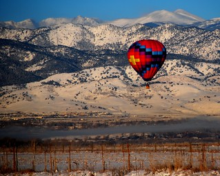 Hot air in cold air