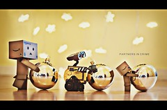 partners in crime (marqos) Tags: christmas season stars lights walle danbo