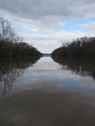 Clouds reflect on anacostia river