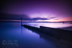 (Claire Hutton) Tags: longexposure pink blue sunset sea motion reflection beach water clouds movement sand purple post smooth pole groyne silky afterglow ndfilter 10stop nd1000 nd110 bw110 leefilters