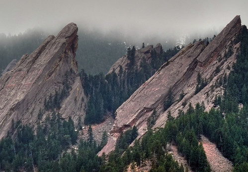 2 Flatirons from the Chautauqua