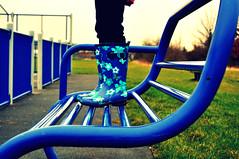 46-365 Blue (Bench) Monday (mrsm211202) Tags: blue bench boots curvy wellies benchmonday