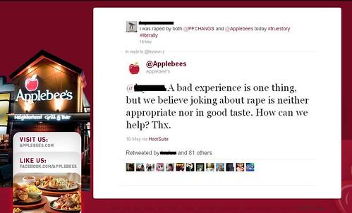 Applebee's Twitter Response