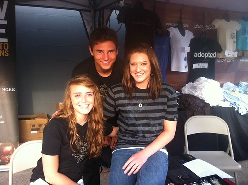 Scarlet, Aaron, and Maddie working the SH booth