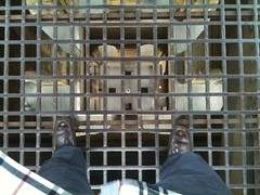 Looking down inside Campanile