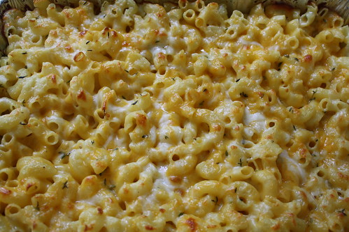 truffle oil, thyme, mac n' cheese