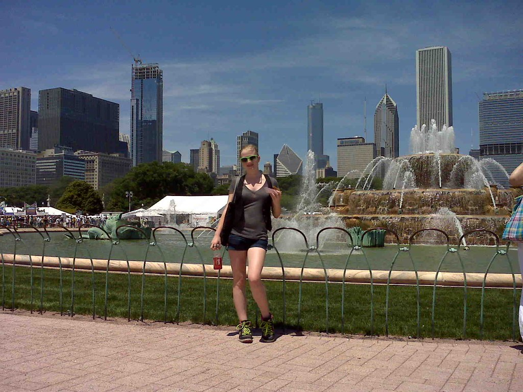 """Buckingham Fountain""  ""Taste of Chicago"" Loop Chicago"