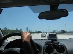 Entering Dallas downtown