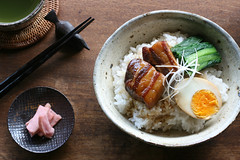 kakuni donburi (bananagranola (busy)) Tags: food cooking japan japanese pork homemade meal japanesefood donburi washoku ricebowl kakuni