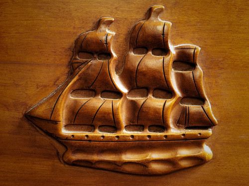 Sailing Ship Relief Detail
