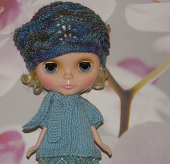 Lacy Beret and Scarf Cardi