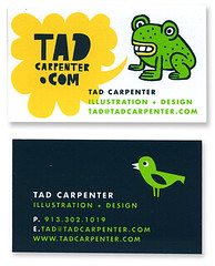 Silkscreen business cards (tad carpenter) Tags: illustration painting poster sketch doodle businesscards silkscreen monsters tad carpenter tadcarpenter