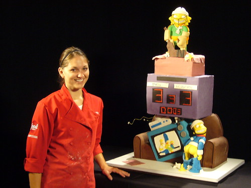 Food Network Challenge: Simpsons Mystery Cakes by amber.mckenney