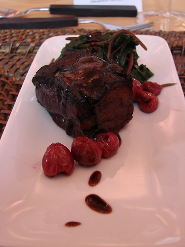 Braised Pork Belly with Sour Cherries