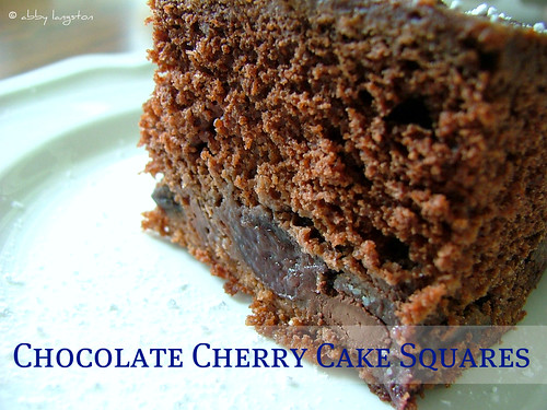 Chocolate Cherry Cake Squares