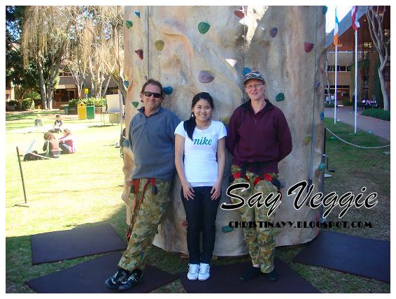USQ Guild Fun Day: Rock Climbing (Rob, me, and Karen)