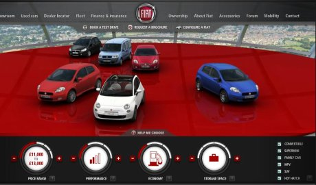 Fiat car comparison tool