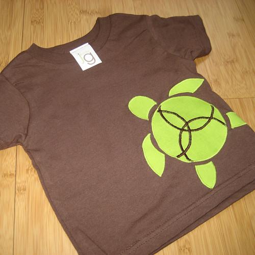 Happy Honu Brown Toddler T-shirt