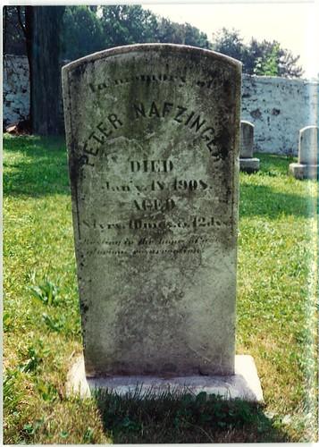 Peter Nafzinger Tombstone