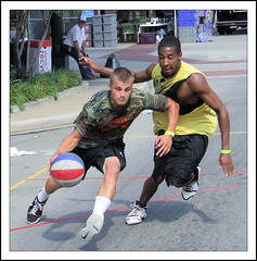 Lancaster Ohio - Gus Macker Basketball - 2009 - 140 (rbatina) Tags: county street city boy columbus ohio playing man game streets male men guy sports boys muscles basketball sport festival ball court outside outdoors athletic downtown play shot 1st muscular main contest young free first competition august guys dude tournament event sweat lancaster strong oh annual athletes thin bball gus dudes trim broad amateur 2009 built fit fairfield 3on3 tourney sweating macker gusmacker rubbertoe basketballtournament