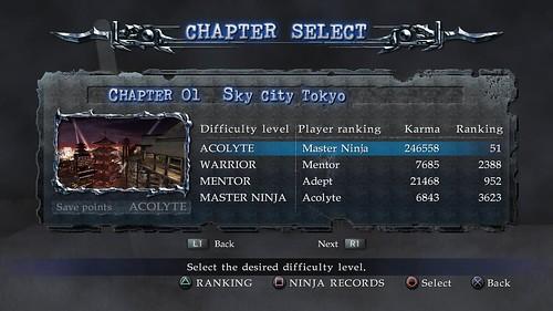 Ninja Gaiden Sigma 2 Chapter Challenge Mode Ninja Records And