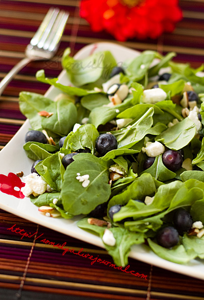 Arugula-Blueberry Salad