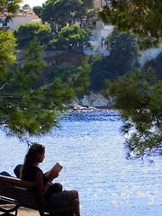 reading (aerialist *) Tags: reading greece resting skiathos sporades mpourtzi